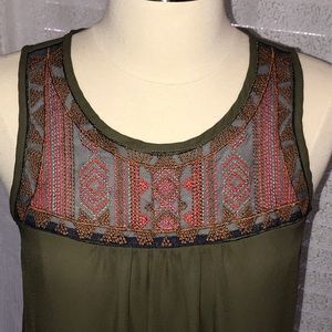 Embroidered Shell Tank BCX from Macy's